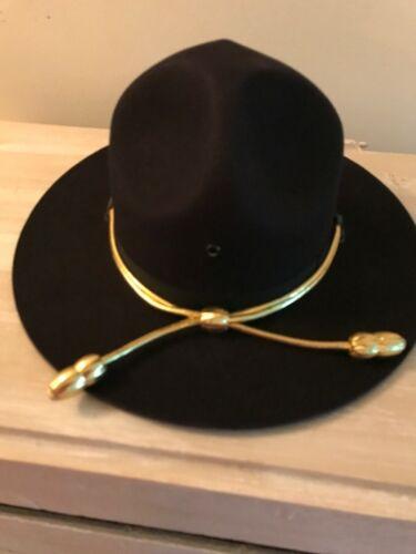 new felt fur STRATTON STATE TROOPER/SHERIFF/ POLICE HAT/MILITARY/ BLACK SZ 6 7/8