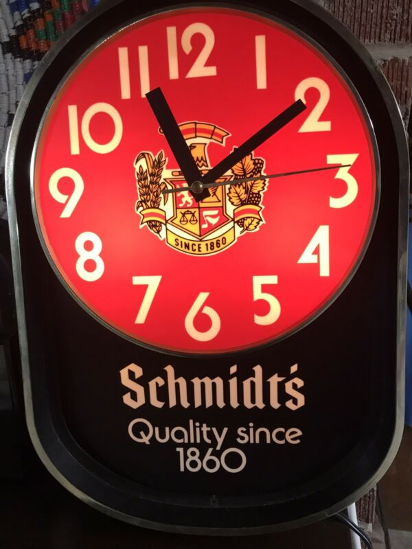 Schmidt's Lighted  Beer Clock.