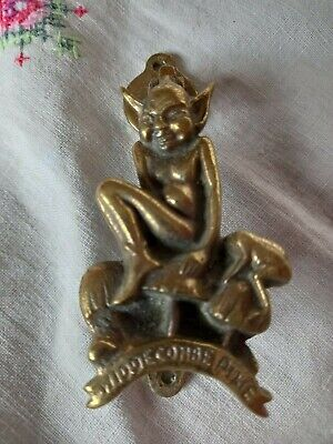 Vintage 1930's Brass Widdecombe Pixie Door Knocker
