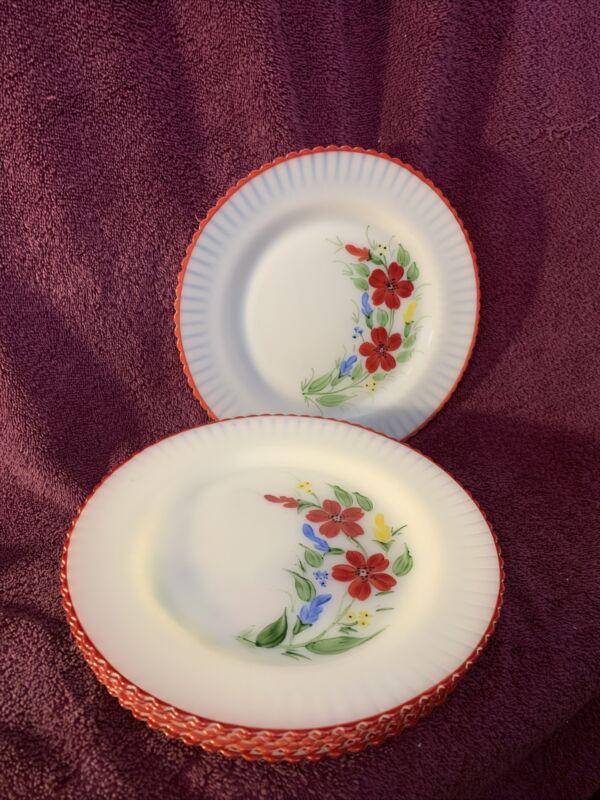 "8 Vintage MacBeth Evans Petalware 9"" Plates"