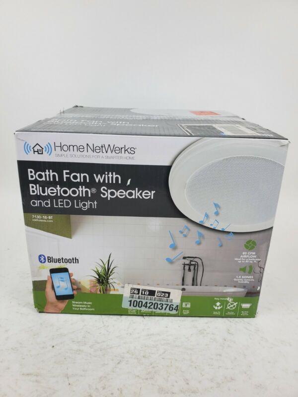Home NetWerks Bath Fan with Built-In Bluetooth Speaker 7130-18-BT