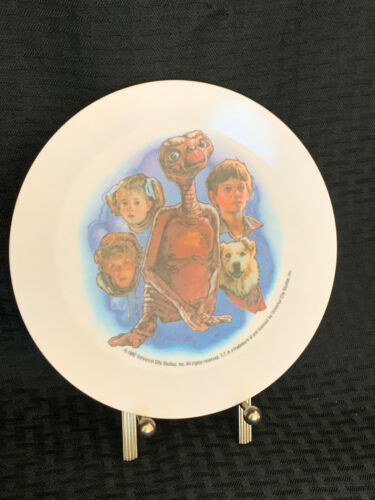 E.T. Plastic Collector Plate - 1982 - Drew Barrymore, Henry Thomas