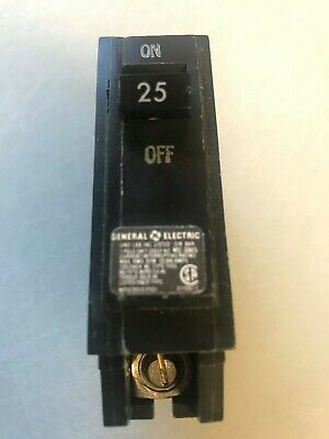 New Ge General Electric Thql1125 1 Pole 25a Amp Circuit Breaker Free Shipping
