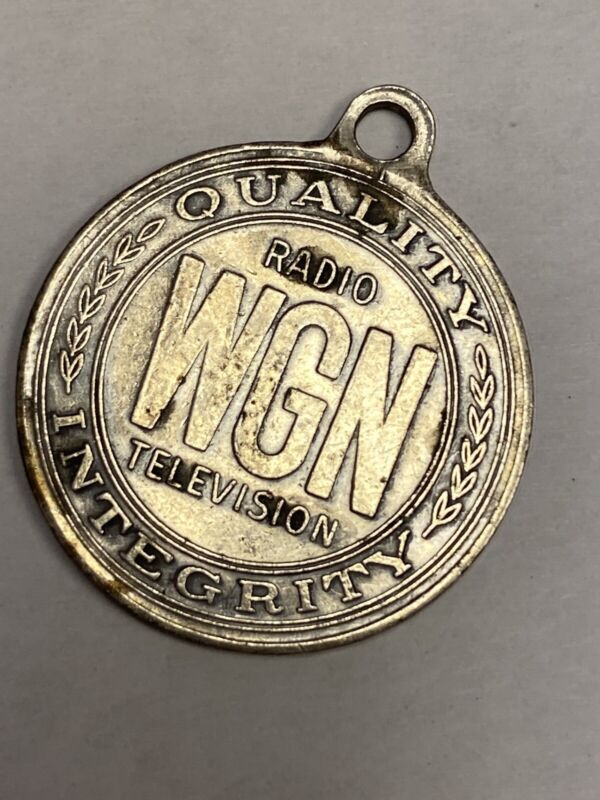 WGN Radio Television Quality Integrity Medal Advertising Token