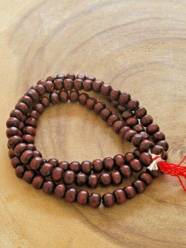Sandalwood 108 8mm Wood Buddhist Prayer Bead Mala Japmala Necklace Bracelet