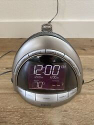 Tested and Working Homedics SoundSpa Premier Clock Radio Nature Sound Projection