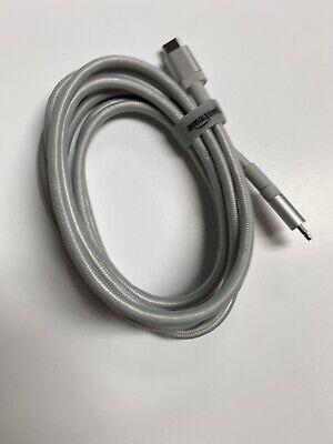 AmazonBasics Nylon Braided USB-C To Lightning iPhone Charger 6ft - Gray