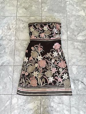 (Ann Taylor Strapless Floral Cocktail Dress with Sweater)