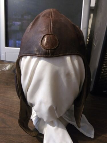 WW2 Imperial Japanese Army Leather Flight Helmet w/ Star - Summer Version