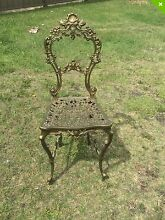 Fancy vintage French style scroll iron chair original gold paint Swansea Lake Macquarie Area Preview