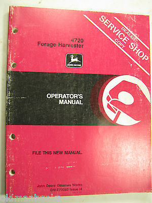 John Deere 4720 Forage Harvester Om-e73382 14 Operators Manual