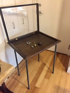 VINTAGE DISPLAY TABLE CABINET ANTIQUE INDUSTRIAL RETAIL STORE