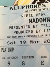 Madonna - 2 x Platinum tickets for Sat night 19th March in Sydney Brighton-le-sands Rockdale Area Preview