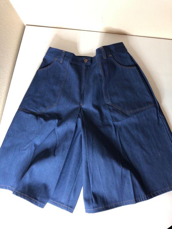 Vtg Sears Denim Gouchos Culottes Shorts NWOT