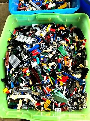 2 pounds of Lego Bulk Lbs Mixed PARTS & PIECES STAR WARS CITY 100% #06