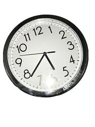 Universal Indoor Outdoor Silver Wall Clock Home Office