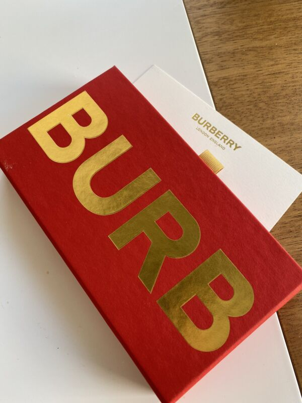 Burberry Red Envelope Gold CNY Lukcy Money Package 8 Count