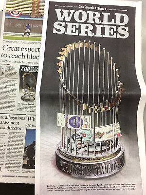 October 24 2017 Newspaper Los Angeles Times La Dodgers Baseball World Series