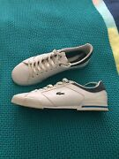 Men's Lacoste sneakers trainers US 11 Uk 10 EUR 44.5 white & blue Caves Beach Lake Macquarie Area Preview