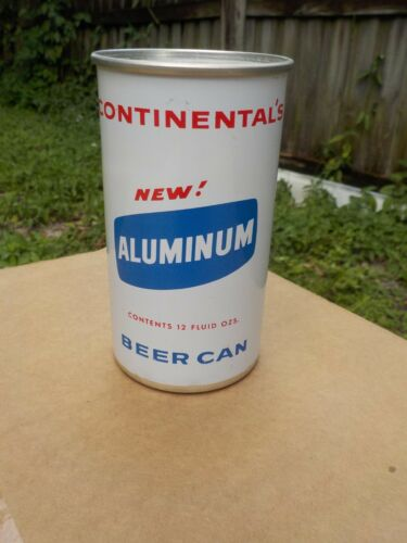 CONTINENTAL NEW ALUMINUM  FLAT TOP OLD BEER CAN