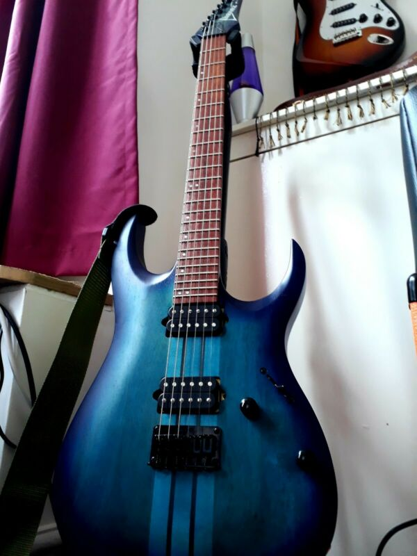 Ibanez RGAT62 Guitar Through Neck Gotoh Tuners Sapphire Blue Mint