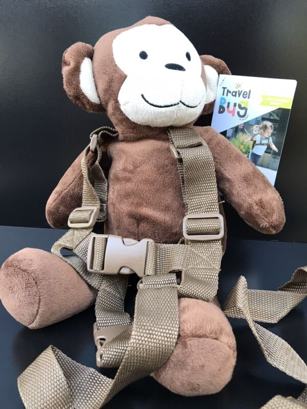 🐵Travel Bug Toddler Character 2-in-1 Safety Harness Buddy~ Monkey ~New