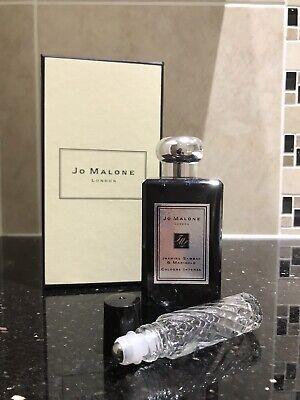 JO MALONE JASMINE SAMBAC & MARIGOLD COLOGNE INTENSE IN GLASS 10ML ROLL ON BOTTLE