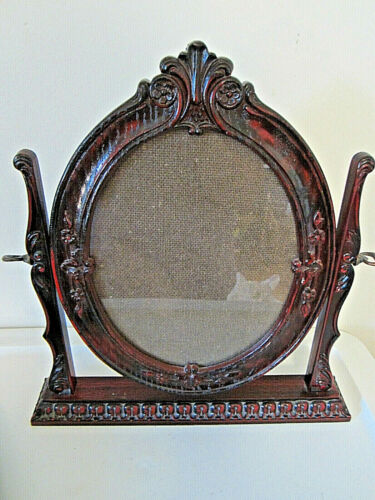 """Victorian design oval picture frame for 8 x 10"""" photo tilt stand"""