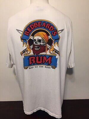 Vintage 80s Crazy Shirts Hawaii Redbeards Rum T Shirt L Pirate Skull Crossbones