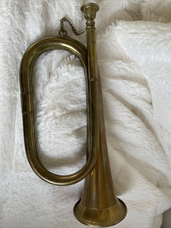 Vintage bugle,brass,40+yearsold Overall Good Cond Small Dent In Last Photo