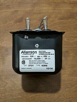Allanson Oil Burner Ignition Transformer Cat 2721 Type 628g For Oil Furnace Used