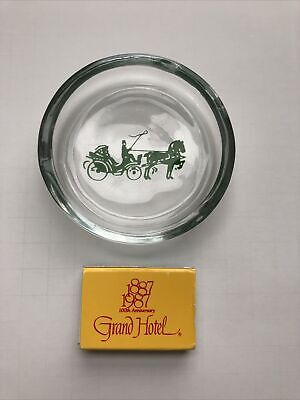 The Grand Hotel Mackinac Island Ash Tray and 100th Anniversary Matches