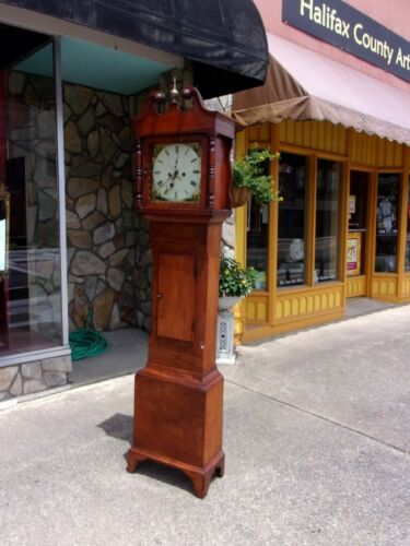 Outstanding American Cherry Tall Case Clock early 19thc