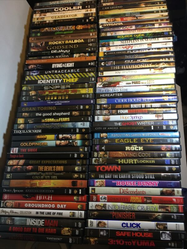Dvd lot 80+ Total, Pictures Are Actual Movies Received