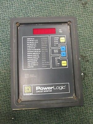 Square D Power Logic Circuit Monitor 3020cm2350 With 3020 Iom-11 Used