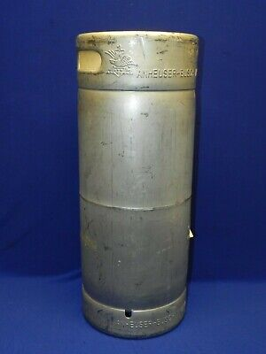 Vintage Collectible Anheuser Busch Empty Beer Keg Stainless Steel 5 Gallons
