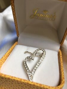 Janina s jewelers silver heart with silver chain