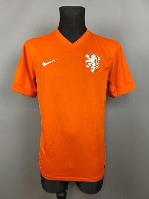 HOLLAND 2014 2015 HOME SHIRT NEDERLAND FOOTBALL SOCCER JERSEY NIKE MENS SIZE L image