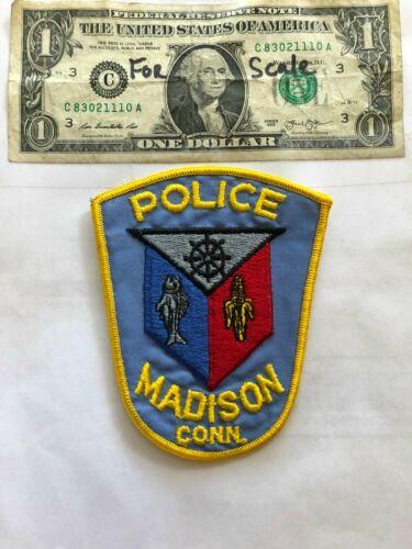 Rare Madison Connecticut Police Patch Un-sewn great shape