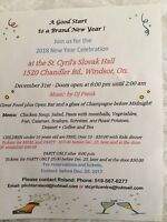 New Years Eve Dinner Dance at St. Cyril's Slovak Hall