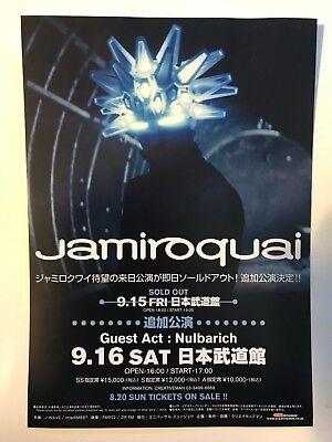 Jamiroquai Automaton Live In Japan Nippon Budokan 9.16 Flyer Handbill Nulbarich