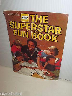 Hertz Superstar Fun Book O J  Simpson Car Rental Premium Activity Book 1978