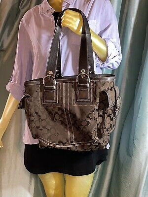COACH Brown Signature Tote Bag Satchel 👜 Purse