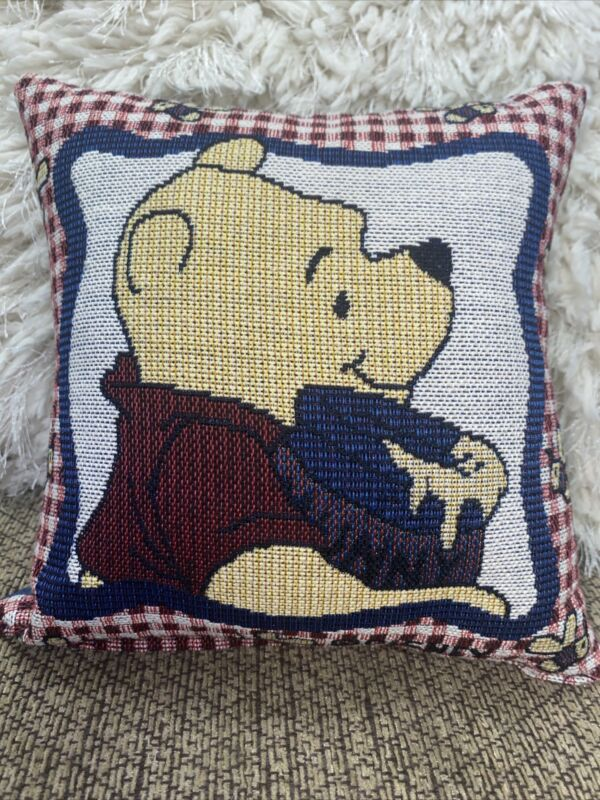 """Disney Winnie the Pooh Tapestry Pillow 8"""" x 8"""" Square"""