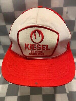 KIESEL Fuel Supplier Vintage Patch Trucker Snapback Adult Cap Hat segunda mano  Embacar hacia Argentina