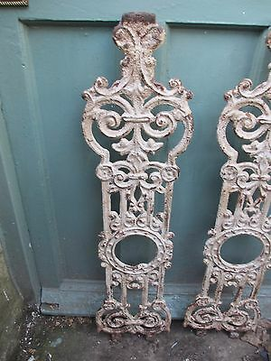 Antique Cast Iron Balcony Stair Spindles Baluster Architectural French Victorian