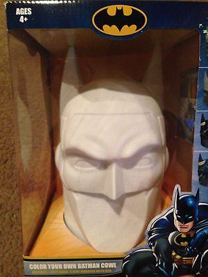 DC Comics COLOR YOUR OWN BATMAN COWL face mask head bust knight bale batsuit - Batsuit Kostüm