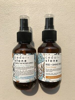 Cedar + Stone Essential Oil Room Sprays - Rise And Shine/Smell The Roses ()