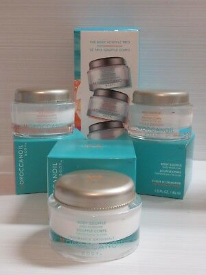 MOROCCANOIL THE BODY SOUFFLE TRIO 3 X 1.5 OZ EACH BOXED SEE DETAILS FOR SCENTS ()