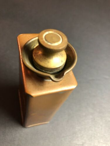 Tiny BCM Brooks Soldered Pour Spout Copper Oil Can w/Solid Machine Threaded Cap